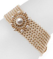 Class, elegance, and beauty--the Grace Kelly Woven Bracelet is all of that and more. One of the most stunning free bead weaving patterns you'll find, this bracelet looks fit for a princess.