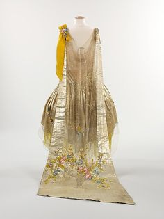 Court presentation dress (image 2 - back) | House of Boue Soeurs | French | 1932-34 | silk, metal, rhinestones | Brooklyn Museum Costume Collection at The Metropolitan Museum of Art | Accession Number: 2009.300.1251a, b