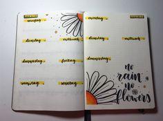 No Rain, Bujo, Bullet Journal, Lettering, Thursday, Drawing Letters, Brush Lettering