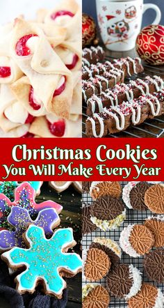 Must Make Christmas Cookies You Will Make Every Year Christmas Cookie Recipes You Will Make Every Year Bhg Recipes, Easy Delicious Recipes, Best Dessert Recipes, Cookie Recipes, Chocolate Sugar Cookies, Chocolate Flavors, Easy No Bake Desserts, Fun Desserts, Holiday Baking