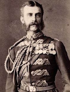 General Frederic Augustus Thesiger, 2nd Baron Chelmsford was a British general, best known for his commanding role during the Anglo-Zulu war. The centre column of his forces was defeated at the Battle of Isandlwana, a crushing victory for the Zulus and the British army's worst ever defeat against a technologically inferior indigenous force. He would avenge his defeat at the Battle of Ulundi, which effectively ended the Zulu campaign.