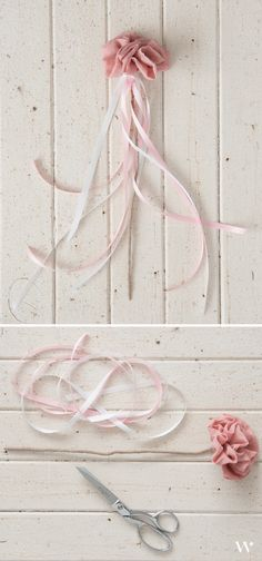 Flower Girl Wand || How To || DIY || Grey and Pink
