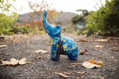 Van Gogh Starry Night Ceramic Elephant Home Decor Art Painting by TakeRootandSprout on Etsy https://www.etsy.com/listing/523840297/van-gogh-starry-night-ceramic-elephant
