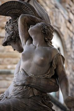 """The Rape of Polyxena"" Loggia dei Lanzi, Florence, Italy."