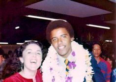 so handsome! Barack Obama and his mother - Retronaut