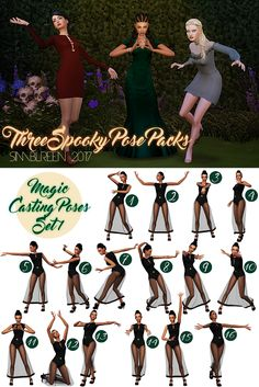 Sims 4 CC's - The Best: Three Spooky Pose Packs by Mamalovesnuts - fotografie The Sims 4 Pc, My Sims, Sims Cc, Sims 4 Mods, Sims 4 Controls, Sims Packs, Sims 4 Cc Shoes, Group Poses, Drawing Expressions