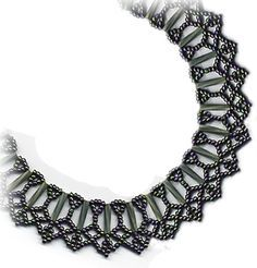 Twist Bugle & Seed Bead Necklace. This necklace pattern includes step-by-step directions. Also includes a small variation to make a bracelet. Pattern is also included on a CD-BOOK, available at: Sova-Enterprises.com