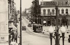 Av Sete de Setembro próximo a Prefeitura - década de 1930