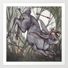 Jackalope Art Print by Caitlin Hackett - $20.00