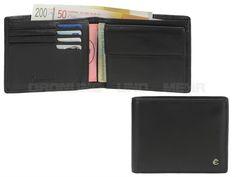 Esquire HARRY 49 - Leder Geldbörse quer (8KF) mit RFID Schutz Portemonnaie - schwarz