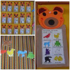 ...Το Νηπιαγωγείο μ' αρέσει πιο πολύ.: Καφέ αρκούδα... καφέ αρκούδα.. πες μας τι είδες; Η καφέ αρκούδα του Eric Carle μας μαθαίνει τα χρώματα... Eric Carle, Advent Calendar, Colours, Holiday Decor, Animals, Autumn, Home Decor, Animales, Decoration Home