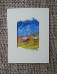 A ewe with her lamb - felted picture