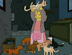 Which Simpsons Character Are You? I got crazy cat lady bahahaa!