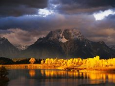 Mount Moran where my favorite moments of peace are.