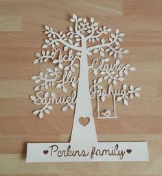 This listing is for one family tree paper cut. They are a beautiful way of displaying all of your family members on a lovely tree design.