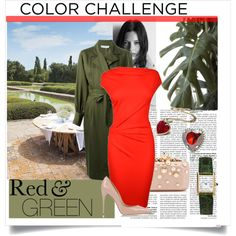 Designer Clothes, Shoes & Bags for Women Red Green, Formal Dresses, Polyvore, Shopping, Collection, Color, Design, Women, Fashion