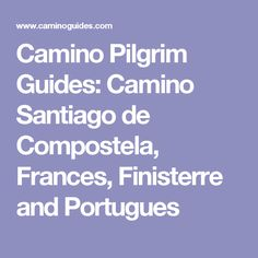 Camino Pilgrim Guides: Camino Santiago de Compostela, Frances, Finisterre and Portugues