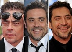 robert downey jr looks like javier bardem and dean morgan     Benicio Del Toro  Jeffrey Dean Morgan  Javier Bardem