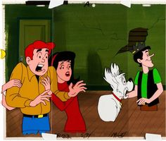 Animation Art:Production Cel, The Archie Show Production Cel Setup and Background Group(Filmation, 1968-77)....