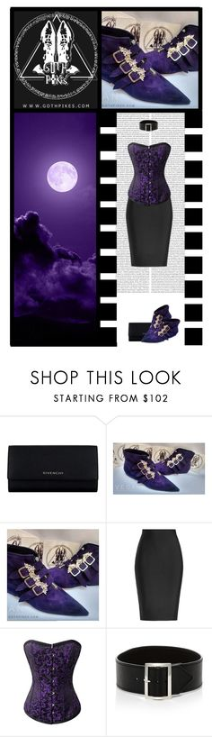 """Goth Pikes (65)"" by irresistible-livingdeadgirl ❤ liked on Polyvore featuring Givenchy, Roland Mouret, Sophie Buhai, purple, corset, RolandMouret, stylebop, emo, goth and gothic"