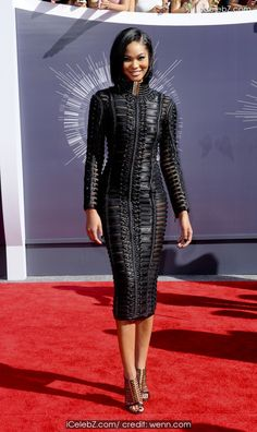 Chanel Iman The 2014 MTV Video Music Awards at The Forum http://icelebz.com/events/the_2014_mtv_video_music_awards_at_the_forum/photo9.html
