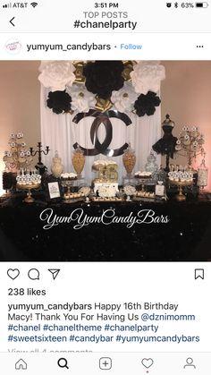 Fun tween or teen birthday/fashion party idea Chanel Birthday Party, Chanel Party, Adult Birthday Party, 50th Party, Birthday Party Themes, Birthday Fashion, Teen Birthday, 40th Birthday Decorations, Birthday Favors