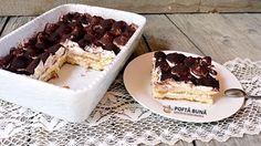 Tiramisu fara oua (reteta italiana RAPIDA, fara coacere) | Gina Bradea (... Tiramisu, No Cook Desserts, Dessert Recipes, Ice Cream Recipes, Waffles, Pudding, Cooking, Breakfast, Ethnic Recipes
