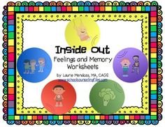 """Inside Out"" Feelings and Memories Worksheets"