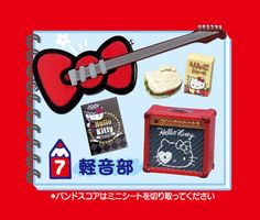 Re-Ment Hello Kitty Club Activities Popular Music Band Club] Miniature figure (Japan Import) Hello Kitty Themes, Rement, Rilakkuma, Popular Music, Cute Designs, Sanrio, Blinds, Barbie, Miniatures