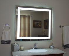 Vanity Mirrors with Led Lights . Vanity Mirrors with Led Lights . Front Lighted Led Bathroom Vanity Mirror Wide X 40 Bathroom Mirror Lights, Lighted Vanity Mirror, Makeup Mirror With Lights, Led Mirror, Bathroom Light Fixtures, Bathroom Lighting, Bathroom Wall, Funky Bathroom, Bathroom Sconces