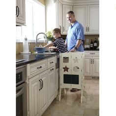 Attrayant $149.00 Uniquely Foldable Guidecraft Classic Kitchen Helper   White Has An  Adjustable Platform To Grow With Your Child. Easy To Fold And Store Away,  ...