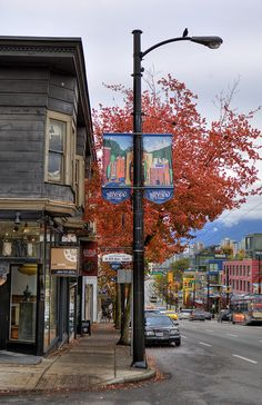 A beautiful autumn day in Vancouver by South Granville, via Flickr