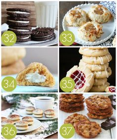 Filled and Stuffed Cookie Recipes for an Exchange Party Easy Christmas Cookie Recipes, Best Christmas Cookies, Christmas Treats, Cookie Exchange Party, Christmas Cookie Exchange, Chocolate Crinkle Cookies, Chocolate Crinkles, Perfect Food, Sweet Recipes