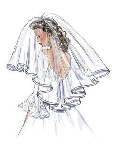 Wedding Dress Illustrations, Wedding Dress Sketches, Wedding Illustration, Wedding Dresses, Bride Clipart, Wedding Drawing, Gold Wallpaper Background, Glamour Decor, Fashion Design Sketches