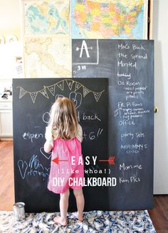 diy chalkboard grande.  My kids might have outgrown this idea but I would love one of these!