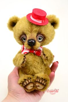 Teddybär Mr. Smith Künstlerbär Künstlerteddy Teddy Unikat