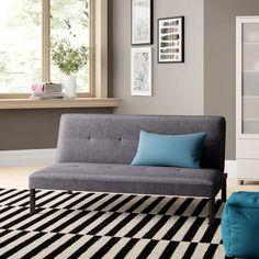 Zipcode Design Granby Twin Tight Back Convertible Sofa Fabric: Gray Small Sleeper Sofa, Sleeper Sofas, Fold Out Beds, Modern Futon, Sofas For Small Spaces, Futon Sofa Bed, Comfortable Sofa, Best Sofa, Fabric Sofa