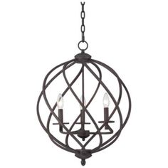 "Torrison 5-Light 16"" Wide Dark Bronze Foyer Chandelier - #1F068 