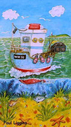 "PAUL LIGGINS Weymouth Dorset - Inglaterra - Reino Unido ""Una paleta repleta de sabor a mar"" (1) PAUL LIGGINS - Acrílico sobre ... Mexican Artwork, Building Art, Naive Art, Beach Scenes, Pebble Art, Lovers Art, Boho Decor, Good Morning, Folk Art"