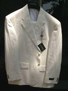 Traje Ralph Lauren Color Blanco Lino  Tallas 36 a 44
