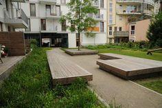 Large timber benchseats. Pinned to Garden Design - Outdoor Furniture by Darin Bradbury.: