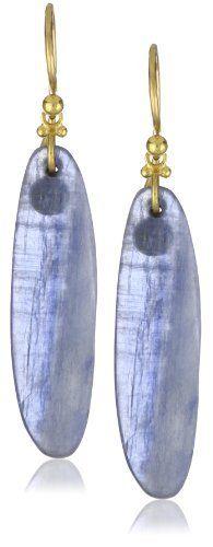 """GURHAN """"Pandora"""" One of a Kind Kyanite with Granulated Hook Earrings"""