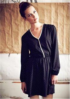 People Tree- Marie Black Dot Dress- fair trade buy of the fall season