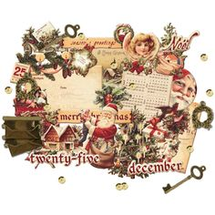 Prima A Victorian Christmas CHIPBOARD DIE CUTS - Victorian Christmas Die Cuts - Christmas Embellishments - Christmas Adhesive Chipboard by OneDayLongAgo on Etsy