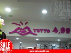 Lettering Interno per negozio abbigliamento.  www.saleprogetti.com