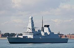 HMS Dauntless is the second ship of the Type 45 class of air defence destroyer built for the Royal Navy (also known as the Daring or 'D' class). She was launched at Govan in January 2007, was handed over to the Royal Navy on 3 December 2009 and was formally commissioned on 3 June 2010.