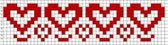 Free Bead Loom Patterns: Hearts Free Bead Loom Patterns: Hearts The post Free Bead Loom Patterns: Hearts appeared first on Weaving ideas. Cat Cross Stitches, Cross Stitch Heart, Beaded Cross Stitch, Cross Stitch Borders, Cross Stitch Patterns, Knitting Charts, Loom Knitting, Knitting Patterns, Knitting Projects