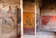 Palace of Menander, Pompeii, Italy. Off limits to most visitors, these frescoes look impossibly well preserved--Pompeii was destroyed in 79 AD.  Photo credit: Jack Quintero
