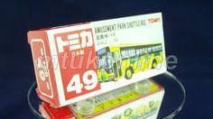 TOMICA 049E AMUSEMENT PARK SHUTTLE BUS | 1/130 | 49E-1 | 10D WHEEL | 1991 JAPAN Old Models, Amusement Park, Diecast, Auction, Trucks, Japan, Cars, Collection, Tomy