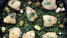 Keep dinner light and easy with Nigella's brilliant chicken and pea traybake